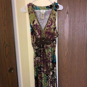 ICE • Tropical Greens & Purples • Dress • XL